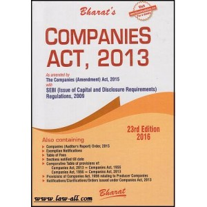 Bharat\'s Companies Act, 2013 with SEBI Regulation, 2009 by Adv. Ravi Puliani (Pocket - HB)